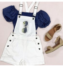 Rompers 48 White Summer Overalls