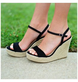 Shoes 54 Summer Solstice Black Espadrille