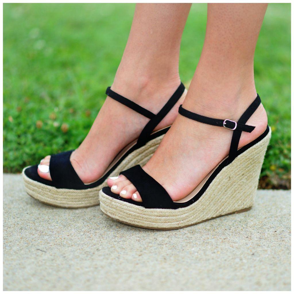 Shoes 54 Sumer Solstice Black Espadrille