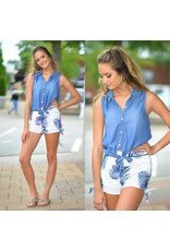Tops 66 That Summer Feeling Chambray Top