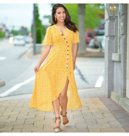 Dresses 22 Honey Me Yellow Floral Dress