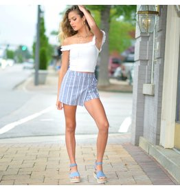 Shorts 58 Happy In Navy Stripes Skort