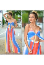 Jumpsuit Fun and Colorful Stripe Summer Jumpsuit