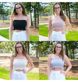 Tops 66 Smocked Tube Top