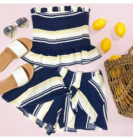 Shorts 58 Summer Sail Away Stripe Wrap Shorts