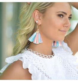 Jewelry 34 Ombre Raffia Tassel Earrings