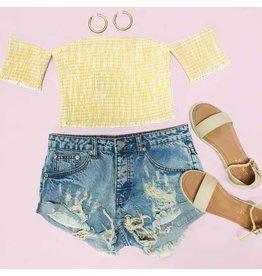 Shorts 58 Distressed Summer Med Wash Denim Shorts
