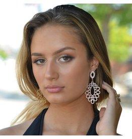 Jewelry 34 Crystal T-Drop Earrings