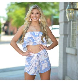Tops 66 Fresh Floral Ruffle Crop Top