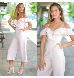 Jumpsuit Summer Soiree Ruffle Party Jumpsuit