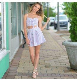 Skirts 62 Sweet Summer Stripes Button Front Skirt