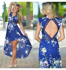 Dresses 22 Flaunt It Floral & Crochet Maxi Dress