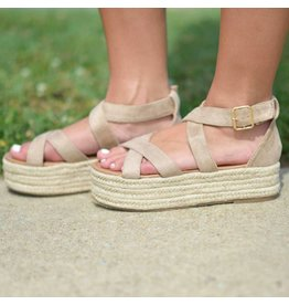Shoes 54 On My Way Summer Taupe Espadrilles