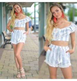 Shorts 58 Summer Stripes and Fringe Linen Shorts