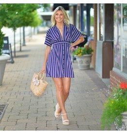 Dresses 22 All Summer Long Stripe Open Back Dress