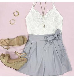 Rompers 48 Lace Love Summer Grey Romper