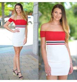 Dresses 22 Stripe Celebration Red Dress