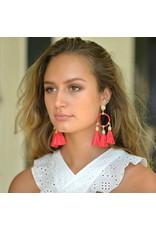 Jewelry 34 Chain Cap Raffia Earrings
