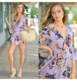 Rompers 48 Floral Fields Lavender Romper