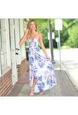 Dresses 22 Tropical Excursion Lace Up Back Maxi Dress