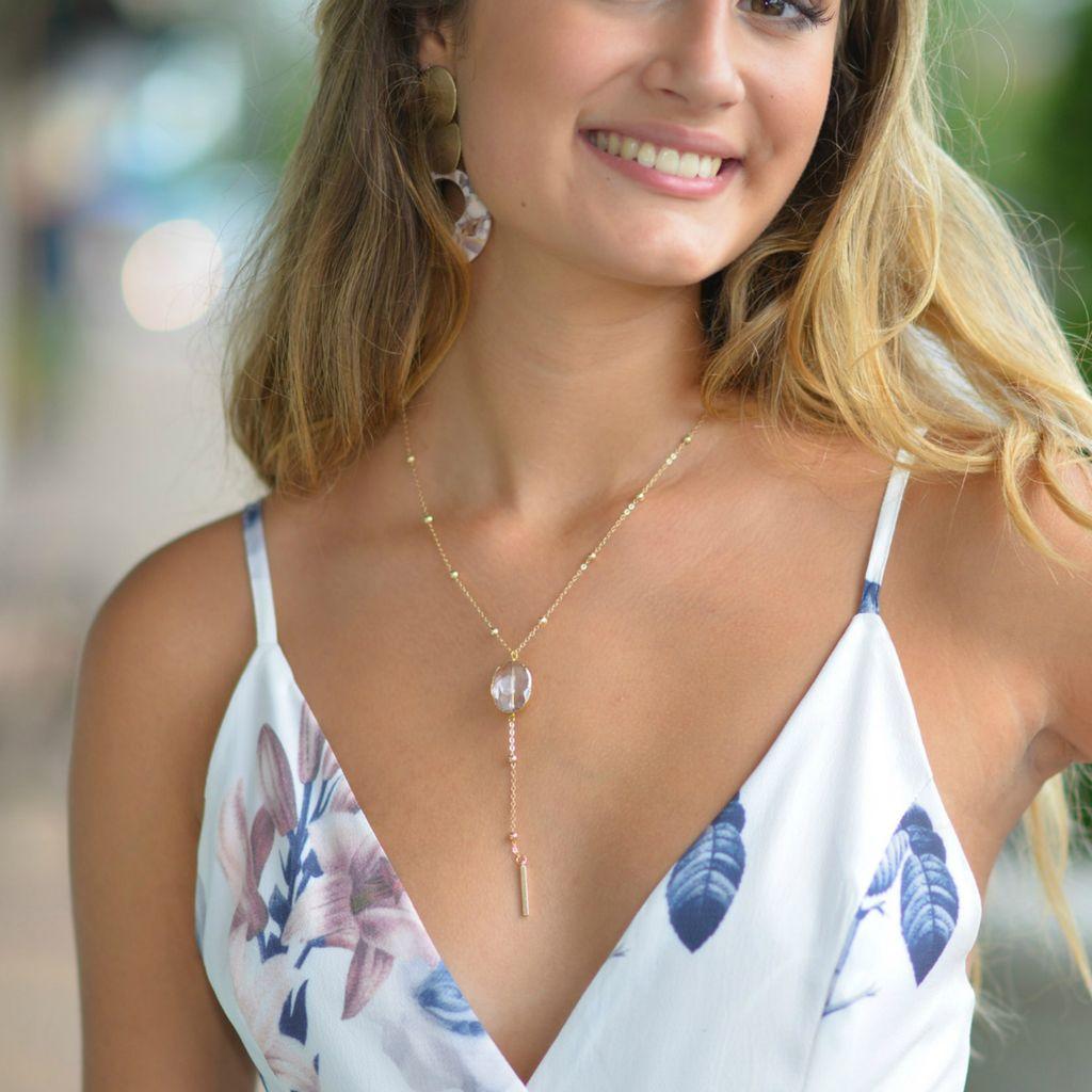 Jewelry 34 Glass Bead Drop Necklace