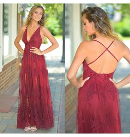 Dresses 22 Ever After Matters Burgundy Tulle Dress