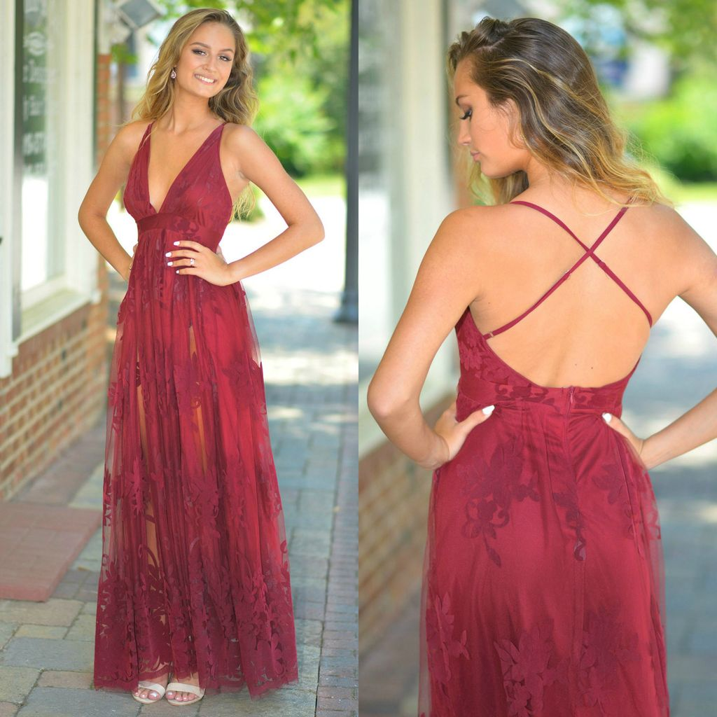 Dresses 22 Ever After Matters Burgundy Tulle Dress
