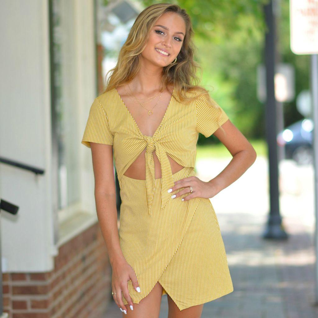 Dresses 22 The Color of Sunshine Stripe Dress