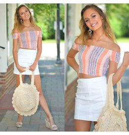 Tops 66 Summer In The Sun Stripe Smocked Top