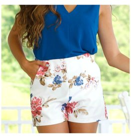Shorts 58 Floral Party Ivory Shorts