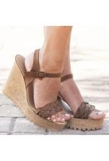 Shoes 54 Braided Tan Wedge