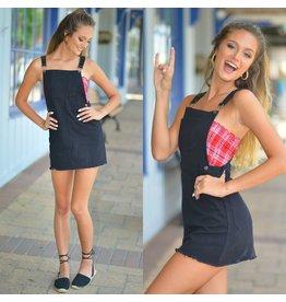 Dresses 22 Bella Black Overall Dress