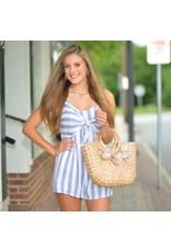 Accessories 10 Summer Straw and Pom Pom Basket Tote
