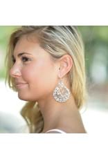 Jewelry 34 Acrylic Filigree Circle Earrings