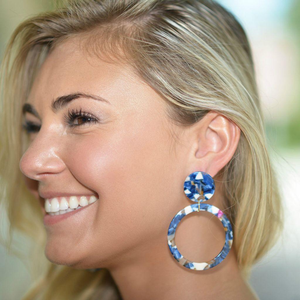 Jewelry 34 Acrylic Disc & Circle Earrings