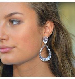 Jewelry 34 Handley Post with Open Oval Drop Earrings