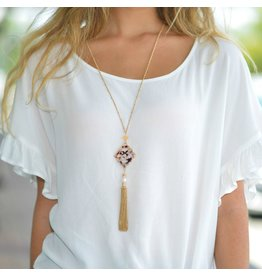 Jewelry 34 Resign Design Pearl And Chain Tassel Necklace