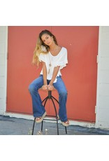 Tops 66 Ruffle & Tie Front Ivory Top