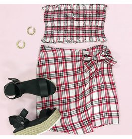 Tops 66 Perfectly Plaid Smocked Top