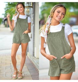 Jumpsuit Fall Forward Olive Corduroy Overalls