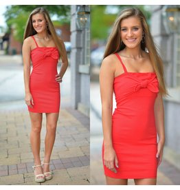 Dresses 22 My Happiness Tie Front Red Dress