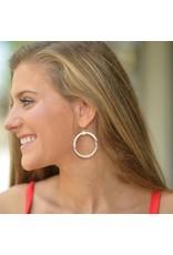 Jewelry 34 Acrylic Two-Tone Circle Earrings