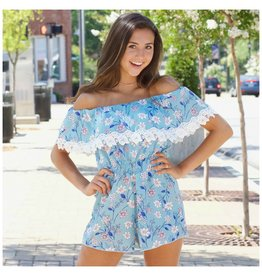 Rompers 48 Summer Blooms Floral Lace Romper