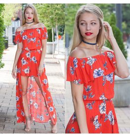 Rompers 48 Lost In Paradise Floral Maxi Romper
