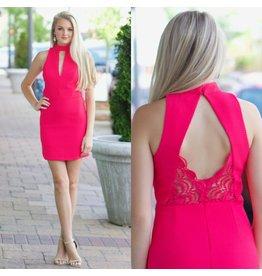 Dresses 22 Lacy Back Hot Pink Summer Dress