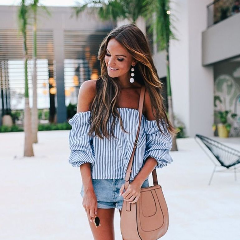 Tops 66 All That Stripe Off Shoulder Top