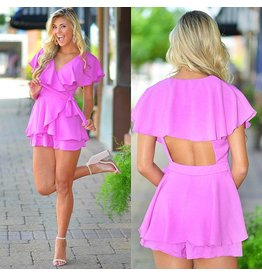 Rompers 48 All The Bright Moves Wrap Open Back Romper