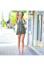 Rompers 48 Wrap Up Into Fall Olive Romper
