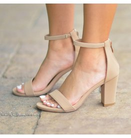 Shoes 54 Nude Block Heel