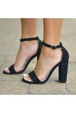 Shoes 54 Suede Black Block Heel